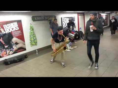 Techno Subway ( Too Many ZOOZ ) rocks underground. Union Square.
