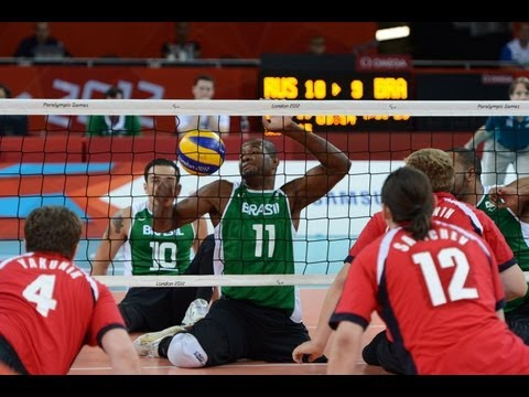 Sitting volleyball highlights from London 2012 Paralympic Games