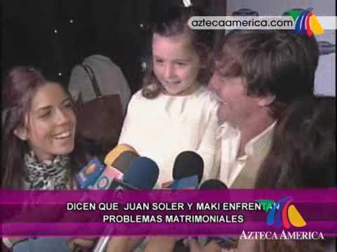 ¡Juan Soler y Maki en crisis matrimonial!