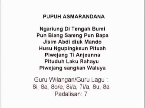 Lagu Sunda dengan lirik | PUPUH ASMARANDANA