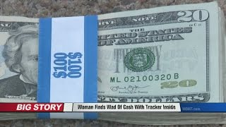 Woman Finds Wad Of Cash Stolen In Bank Robbery