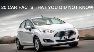 20 Amazing Car Facts