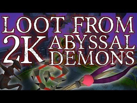 Runescape 3 – Loot From 2000 Abyssal Demons