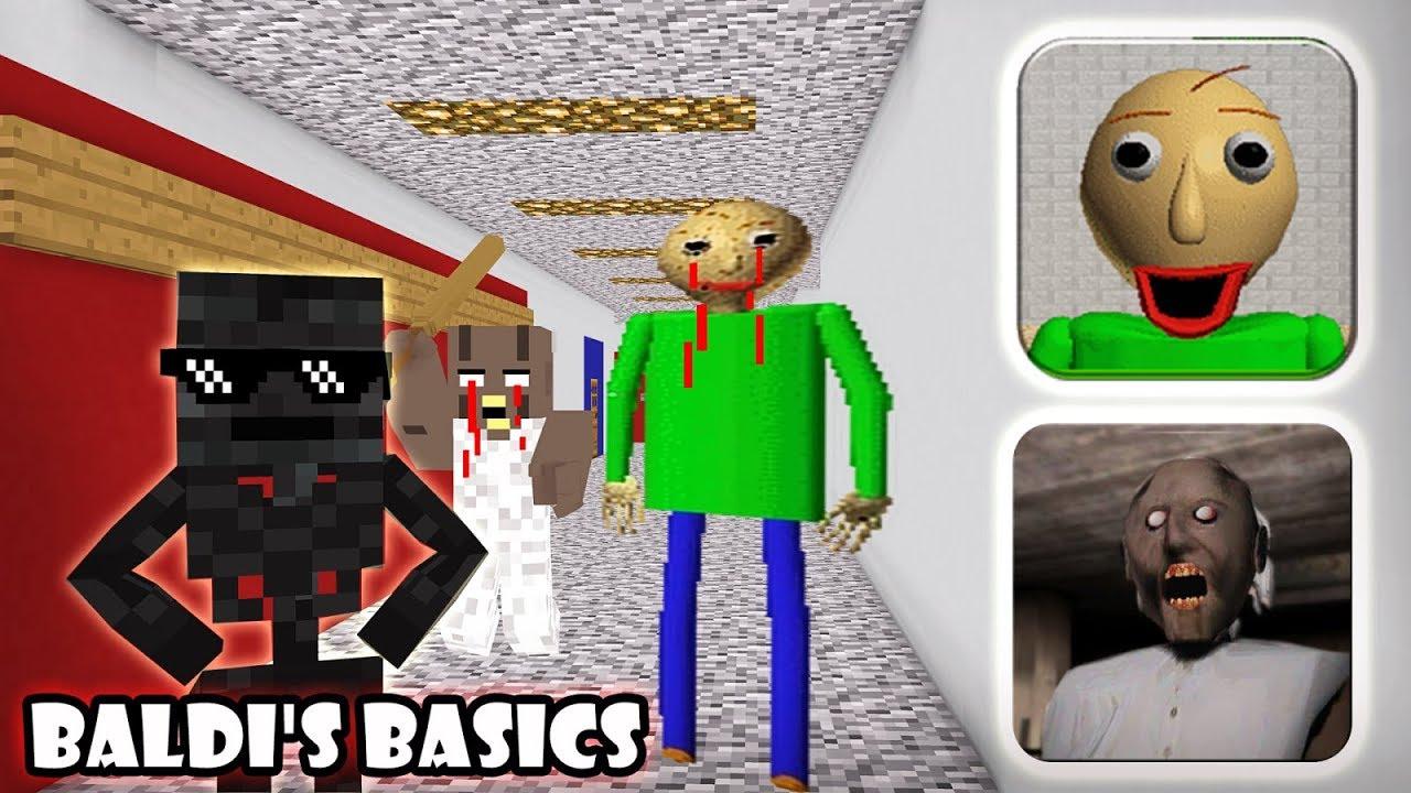 Monster School : GRANNY VS BALDI'S BASICS GAME CHALLENGE - Minecraft Animation