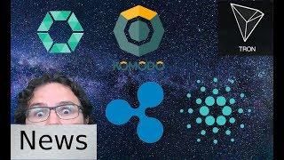 Friday News Roundup - Ripple, Cardano, Cobinhood, Komodo, & Tron