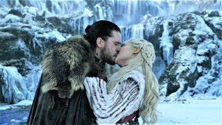 Game of Thrones 8x01 Jon Snow Kiss Daenerys before her Dragons Scene HD