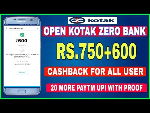 Oepn Kotak 811 Zero Balance Account | Rs.750+600 Cashback Per Month | Full Guide With Proof
