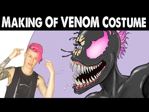 Cosplay Calendar making of Video #2: Venom costume life casting w/ Cig Neutron of Face Off