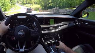 2018 Alfa Romeo Stelvio Quadrifoglio POV Test Drive