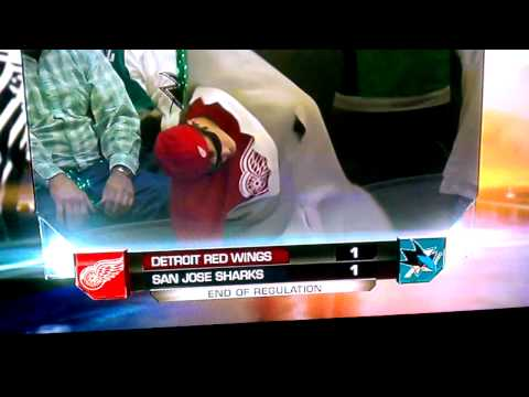 Shark Attack: Red Wing Fan Chummed In The Tank (video)