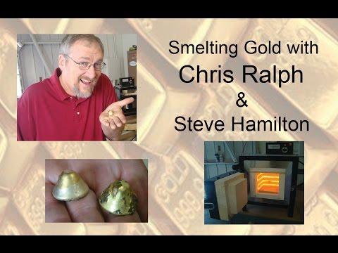 Smelting Gold - Chris Ralph making Gold Buttons w/ Steve Hamilton