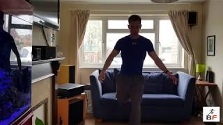 5 of the best body weight leg exercises performed at home