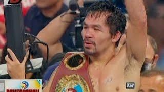 BT: Manny Pacquiao, pinaulanan si Jessie Vargas ng mga suntok