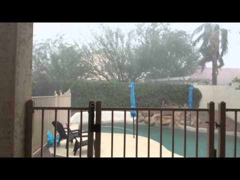 Arizona monsoons my backyard
