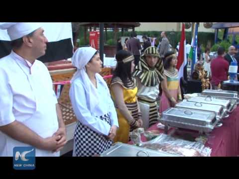 RAW: Chinese delicacies stand out at Uzbek food festival