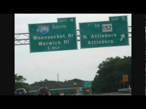 Interstate 95 (I-95) South - Massachusetts - Rhode Island - Providence