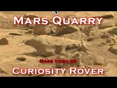 Curiosity finds Martian Quarry & Artifacts