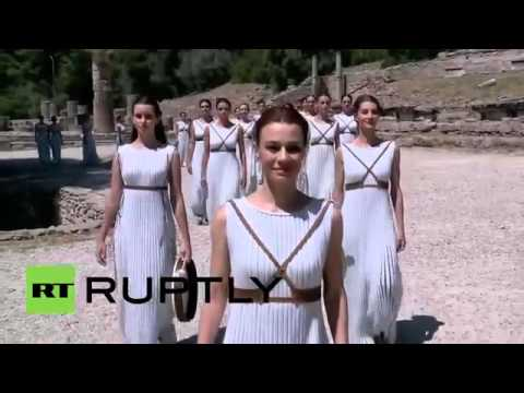 Greece  Ancient Olympia hosts 80th Olympic flame ceremony ahead of Rio 2016