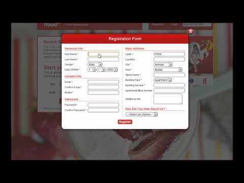 How to register account - Order food delivery