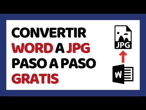 Cómo Convertir Word a JPG Sin Programas 2018 thumbnail