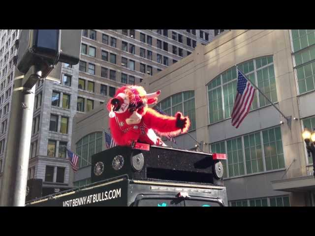 Benny the Bull - Celebrity Bell Ringer for The Salvation Army