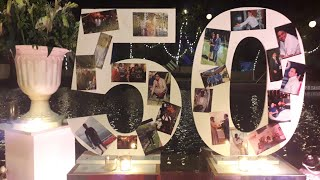 Best 50th Anniversary Celebrations Theme ideas Best Golden Anniversary Theme Best Photo Booth ideas