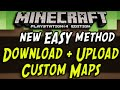 Minecraft PS4 - Download and Upload Maps! (EASY NEW METHOD Playstation 4)