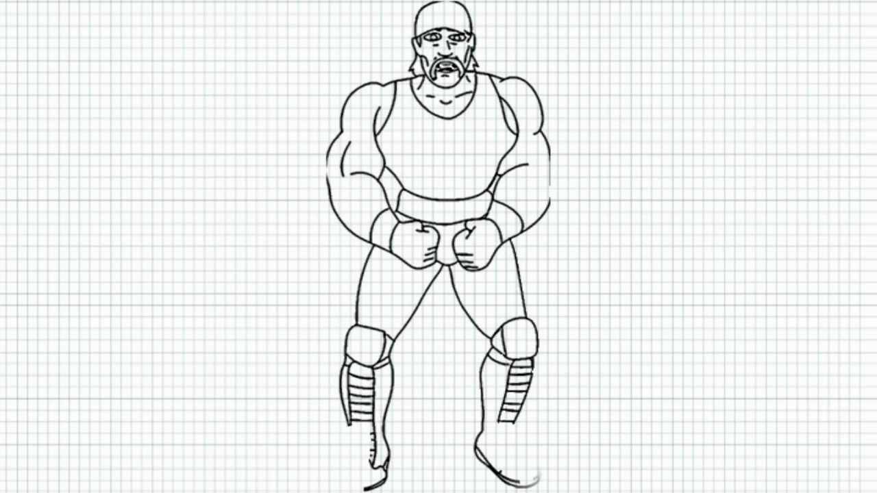 Hulk Hogan How To Draw Hulk Hogan Video Hulk Hogan