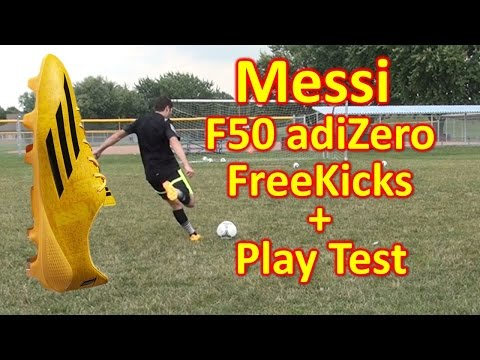 Messi Adidas F50 adiZero 2014 Review - Freekicks + Play Test