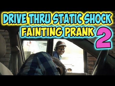 Drive Thru Static Shock Fainting Prank 2