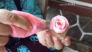 Cara Membuat Bunga Mawar Dari Cream Rose Cream