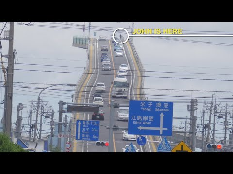 Japan's Most Terrifying Bridge: Eshima Ohashi 日本最恐 江島大橋 ★ WAO✦RYU!TV ONLY in JAPAN #33
