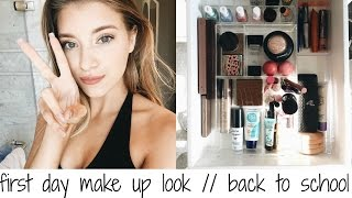 FIRST DAY MAKE UP LOOK // BACK TO SCHOOL