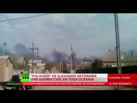 Ucrania: Combates cerca de Sláviansk dejan muertos y heridos