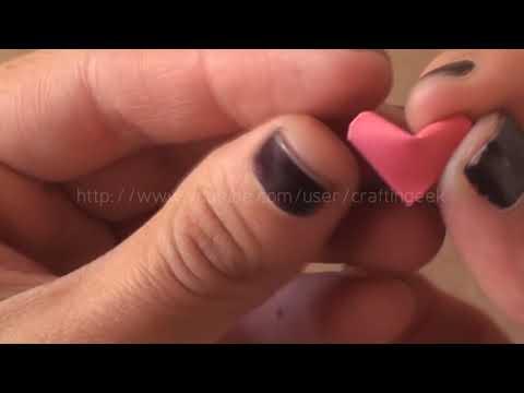 Como hacer corazoncitos de papel
