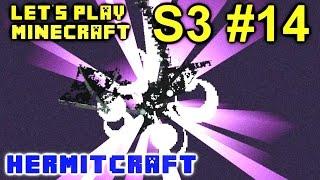 Minecraft Amplified Survival Ep. 14 - Snowball Dragon Fight !!! ( Hermitcraft Server )