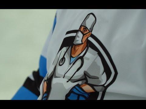 Медбат: Дамир Рахимуллин на тренировке у врачей-хоккеистов