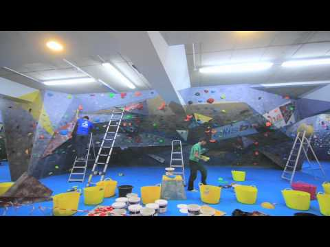 The Climbing Academy, Bristol, Mothership route setting reset Time lapse 11-1-2012