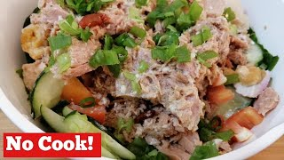Keto Tuna Egg Salad Recipe with Easy Low Carb Salad Dressing