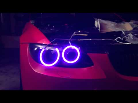 BMW E92 335/328/M3 RGB LED Angel Eyes - Teaser