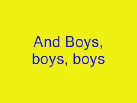 Boys Boys Boys - Lady Gaga Lyrics video