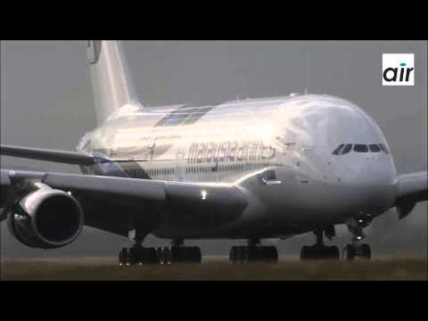 Malaysia Airlines Airbus A380 Landing at Paris CDG HD new