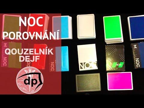 Srovnání karet NOC edice OUT + Sport + Originals + V3S kouzelnické NOCky od Murphys Magic