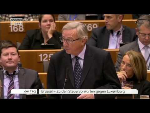 Steuertricks in Luxemburg: Jean Claude Juncker äußert sich zu Vorwürfen am 12.11.2014
