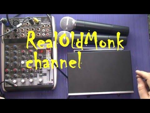 Беспроводные микрофоны для сцены тест звука