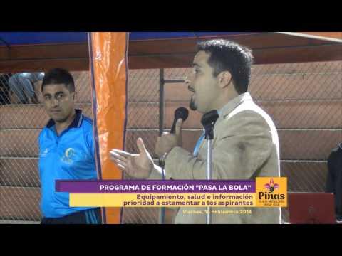 Inauguración de el centro de capacitación formativa de futbol