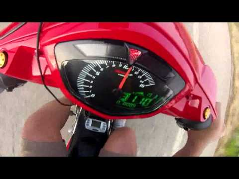 zacxanthi Yamaha Crypton X 180cc accel - top speed