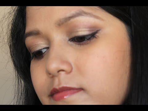 Golden Plumy Eye Makeup Tutorial