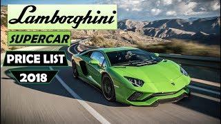 Lamborghini Cars Price List IN INDIA (2018)