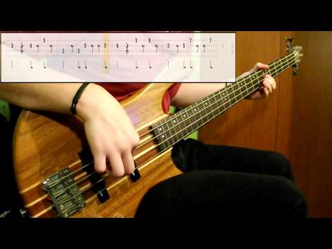 Red Hot Chili Peppers - Around The World (Bass Cover) (Play Along Tabs In Video)